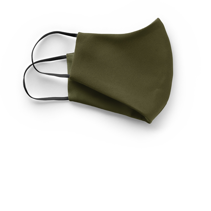 silk face mask olive green